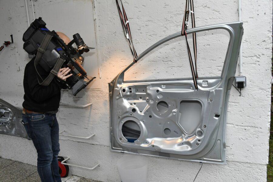 RTV film crew visiting ESS headquarters