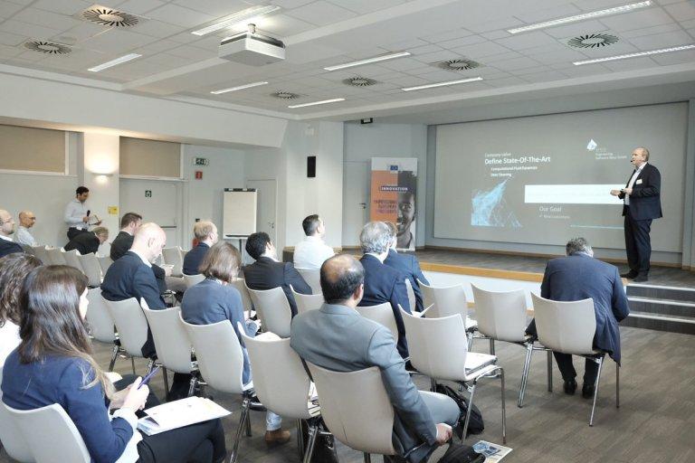 CEO Martin Schifko holds a presentation