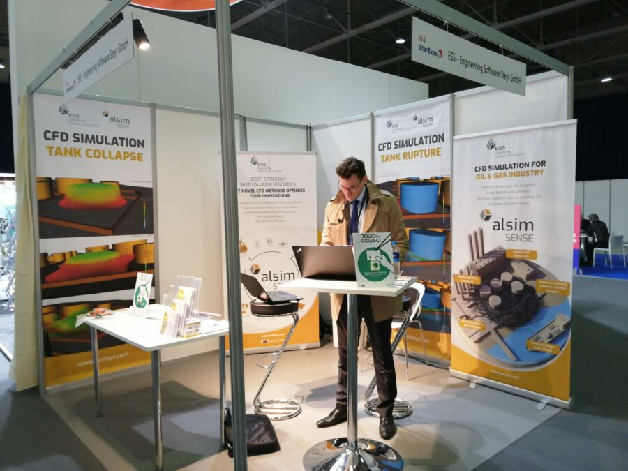 Georg Feichtinger preparing for the first visitors of the StocExpo